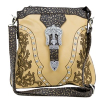 Brigalow Embroidered Handbag (HB1006BE) Beige