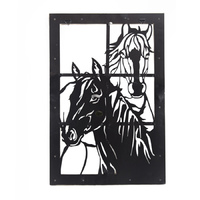 Brigalow Metal Horse Window Frame (HY904)