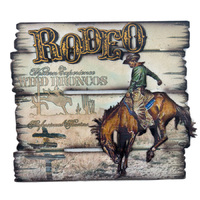 Brigalow Rodeo Sign Wall Mounted (7074)