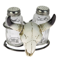 Brigalow Steer Head Resin Salt & Pepper Shaker Set (SP-05)
