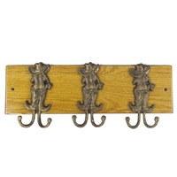Brigalow Wall Hooks - Cast Iron - 3 Hook (6001)