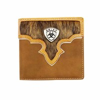 Ariat Bi Fold Wallet (WLT2108A) Brown [AD]