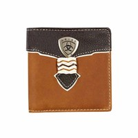 Ariat Bi Fold Wallet (WLT2109A) Brown [AD]