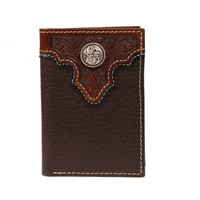 Ariat Overlay Wallet Tri Brown (A3510602)
