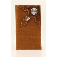 Ariat Rodeo Rawhide Knot Wallet (A3524444) Floral Aged Bark