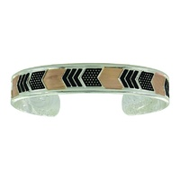 MONTANA BRACELET TWO TONED LAYERED CHEVRONS BC3501RG
