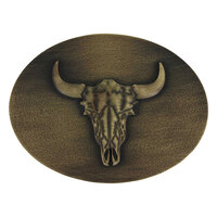 Montana Jewellery Heritage Defined Buffalo Skull Attitude Buckle (A744C)
