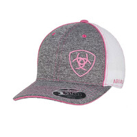 Ariat Womens Mesh Cap (1504930) Grey/White & Pink