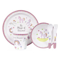 Ashdene Unicorn Magic 5 Piece Kids Dinner Set (590638)