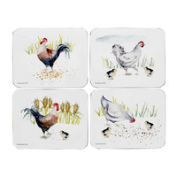 Ashdene Country Chickens 4 Pack Placemats (517292)