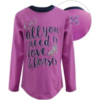 Thomas Cook Girls Equestrian Love Is Horses L/S Top (E7W5500056)   [SD]