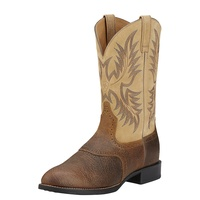 Ariat Mens Heritage Stockman Boots (10002247) Tumbled Brown/Beige