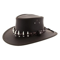 Jacaru Wallaroo Croc Leather Hat (1058)