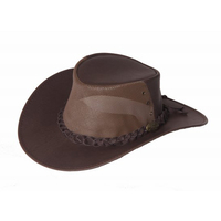 Jacaru Kangaroo Breeze Leather Hat (1150)