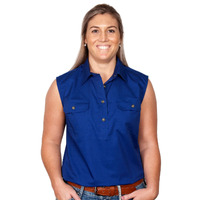 Just Country Womens Kerry Sleeveless Work Shirt (50503)