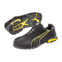 Puma Mens Amsterdam Safety Shoe (642717) Black/Yellow