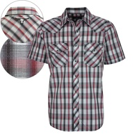 Pure Western Mens Corban Check S/S Shirt (P7S1101086)