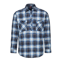 Ritemate Adults Flannelette Closed Front Shirt (RM123FCF)