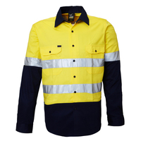 Ritemate Childrens Hi Vis Shirts with Tape (RM4050R) Yellow/Navy