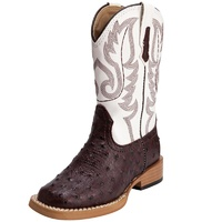 Roper Infant Square Toe Ostrich Print Boots (17900049)