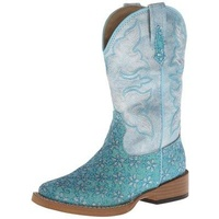 Roper Childrens Square Toe Glitter Boots (18901027)