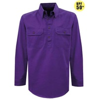 Thomas Cook Light Drill 1/2 Button L/S Shirt (TCP1126005)