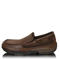 Twisted X Mens Casual Driving Moccasin Boat Slip-on (TCMDMS009)