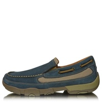 Twisted X Mens Casual Driving Moccasin Boat Slip-on (TCMDMS008)