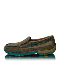 Twisted X Mens Casual Driving Moccasin Boat Slip-on (TCWDMS006)