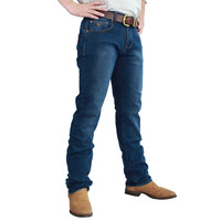 Ringers Western Mens Mitchell Classic Fit Jean Straight Leg (117108003) Mid Blue