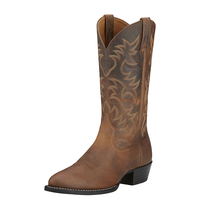 Ariat Mens Heritage Western R-Toe Boots (10002204) Distressed Brown