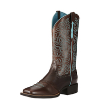 Ariat Womens Round Up Remuda Boots (10019907) Naturally Brown