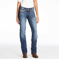 Ariat Womens R.E.A.L. Straight Cascade Jeans (10023496.F18) [SD]