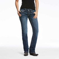 Ariat Womens R.E.A.L. Mid Rise Straight Ivy Jeans (10024300) Dresden [SD]