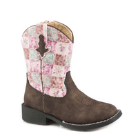 Roper Toddler Floral Shine Boots (17226046)  Brown/Pink