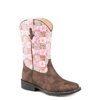 Roper Childrens Floral Shine Boots (18226046) Brown/Pink