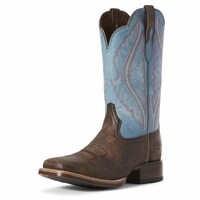 Ariat Womens Primetime Western Boot (10027373) Tack Room Chocolate/Lapis