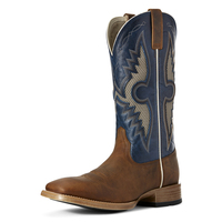 Ariat Mens Solado Venttek Boot (10027202) Sorrel Crunch/Cowboy Blue