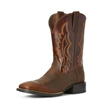 Ariat Mens Sport Riggin Western Boot (10027208) Copper Penny/Rust Red