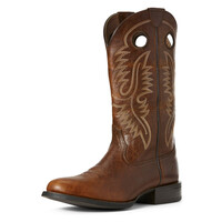 Ariat Mens Sport Big Hoss Western Boot (10027216) Brown Patina [AD]