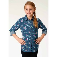 Roper Girls L/S Shirt Five Star Collection (80590005) Blue
