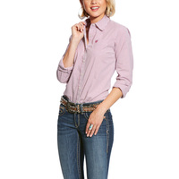 Ariat Womens Kirby Stretch Shirt (10025918) Berry Juice Stripe _S19