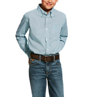Ariat Boys Hassinger L/S Stretch Print Shirt (10025458) Multi _S19