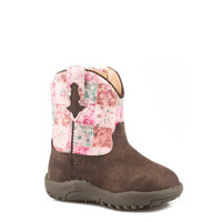 Roper Infant Cowbaby Floral Shine Boots (16226046)