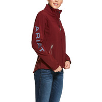 Ariat Womens New Team Softshell Jacket (10028249) Cabernet Heather [SD]