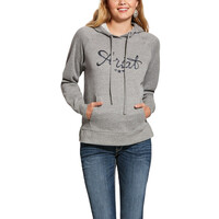 Ariat Womens Real Sequin Hoodie (10028066) Heather Grey 2XL
