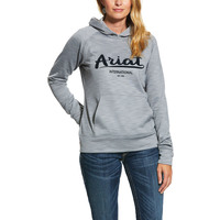 Ariat Womens Logo TEK 2 Hoodie (10030911) Heather Grey