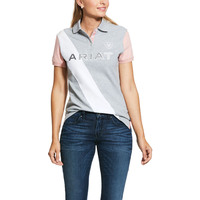 Ariat Womens Taryn Polo (10030992) Heather Grey/Bridal Rose [SD]