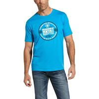 Ariat Mens Circle T-Shirt (10033353) Turquoise [SD]