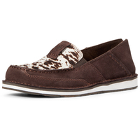Ariat Womens Cruiser (10033932) Chocolate Chip Suede/Spotted Hair On